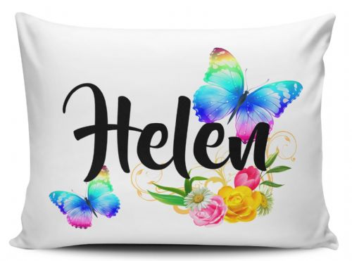 Personalised Beautiful Butterflies & Flowers Novelty Gift Pillow Case